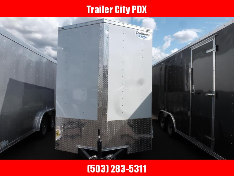 2020 Continental Cargo 6 X 10 3K V SERIES WHITE TALL RAMP Enclosed Trailer