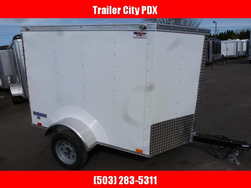 2020 Continental Cargo 4 X 6 2K WHITE Enclosed Cargo Trailer