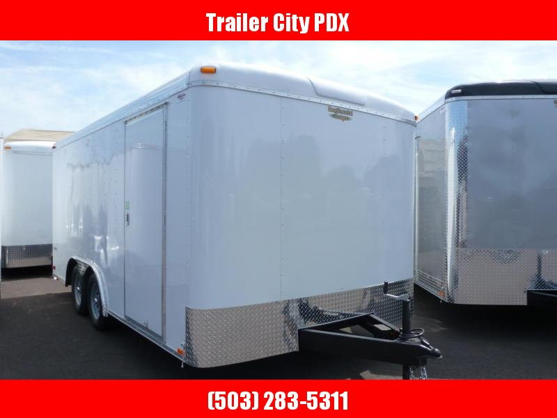2020 Continental Cargo 8 x 16 7k TALL RAMP WHITE Enclosed Cargo Trailer