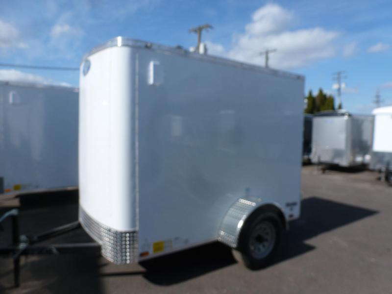 2020 Continental Cargo 5 X 8 3K RAMBLER SUPER TALL WHITE Enclosed Cargo Trailer