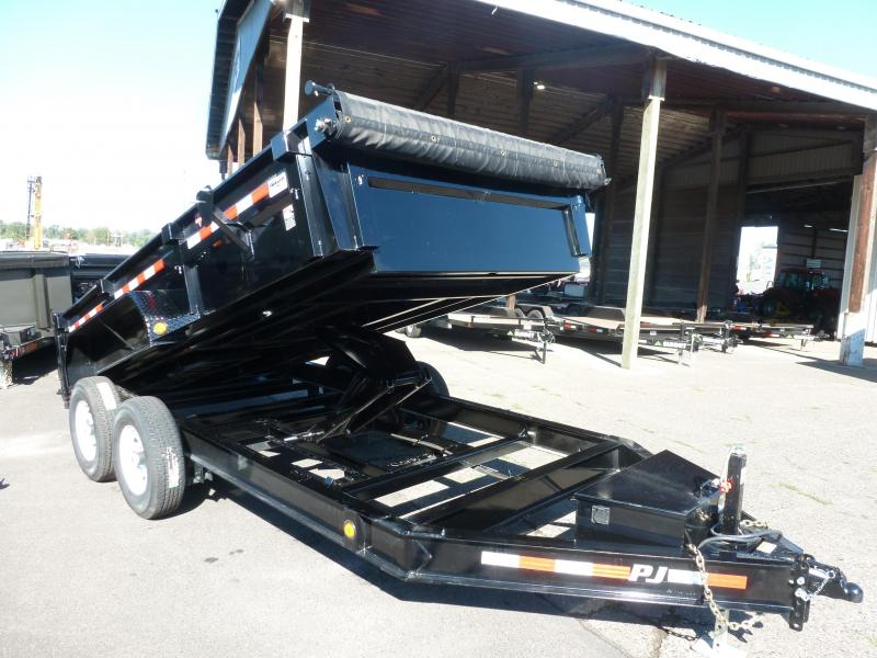 2020 PJ Trailers 7 X 14 14K LOW PRO DUMP  Trailer