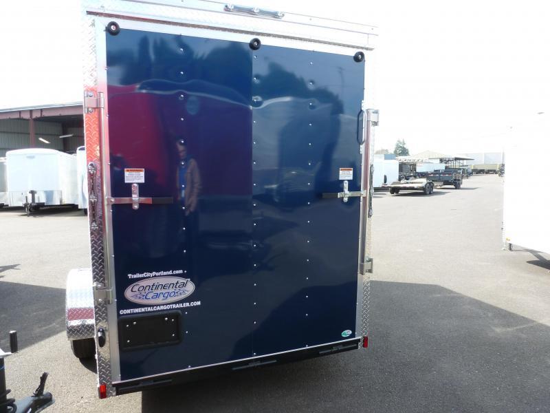 2020 Continental Cargo 6 X 12 3K V-SERIES BLUE RAMP SUPER TALL Enclosed Cargo Trailer