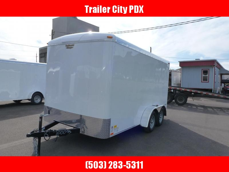 2020 Continental Cargo 7 X 14 7K TALL RAMP WHITE Enclosed Cargo Trailer
