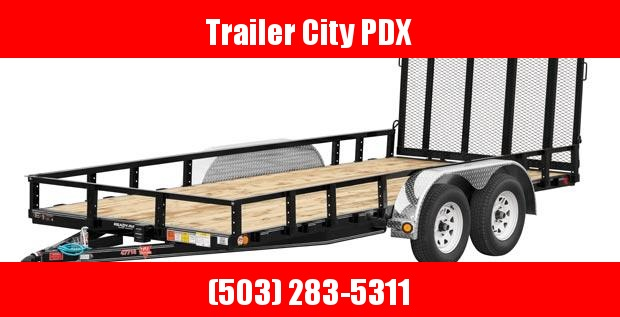 2020 PJ Trailers 77 in.X 16' Tandem Axle Channel Utility (UK) Utility Trailer