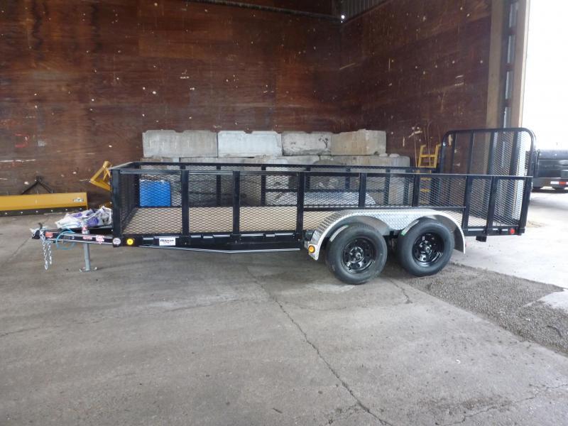 2020 PJ Trailers 77 in.X 16' Tandem Axle Channel Utility (UK) Utility Trailer