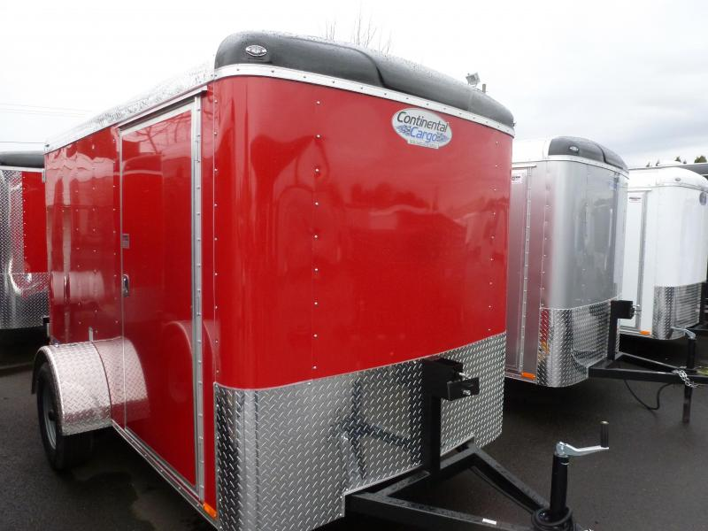 2020 Continental Cargo 6 X 12 3K RED CARGO TALL Enclosed Cargo Trailer
