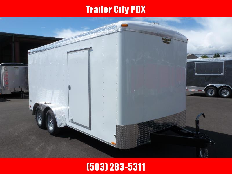 2020 Continental Cargo 7 X 16 10K TALL RAMP WHITE Enclosed Cargo Trailer