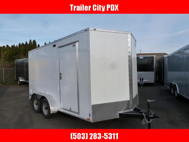 2020 Continental Cargo 7 X 14 7K V-SERIES RAMP WHITE Enclosed Cargo Trailer