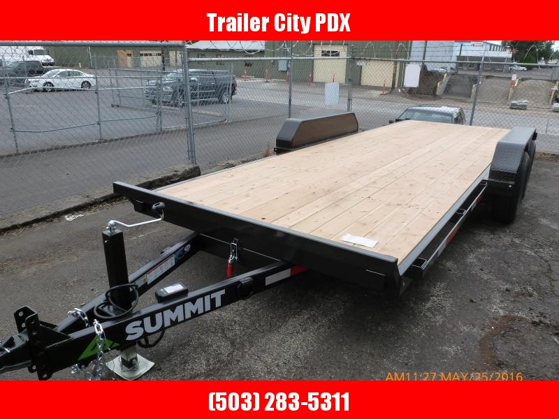 2020 Summit DPTB720TA3 Tilt Flatbed Trailer