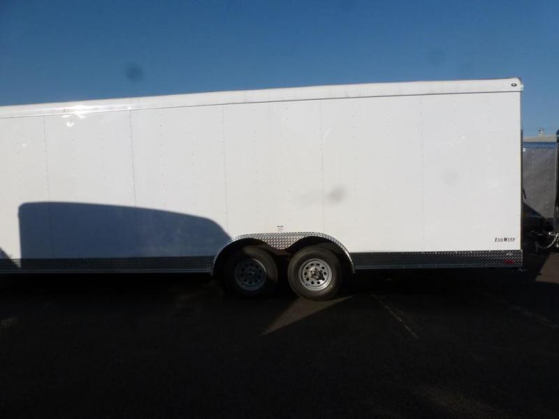 Continental Cargo 8.5X24 10K RAMP CAR HAULER WHITE