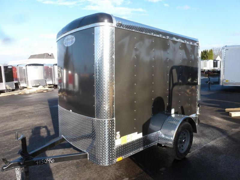 Continental Cargo 5 X 8 3K CARGO SUPER TALL CHARCOAL Enclosed Cargo Trailer