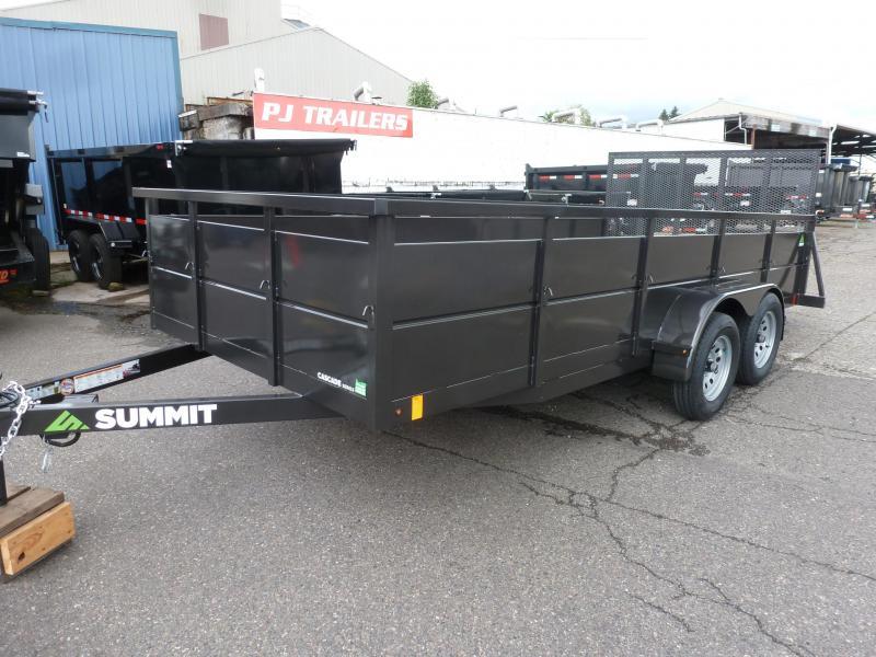2020 Summit 7 X 16 7K Cascade Series TA Utility Utility Trailer