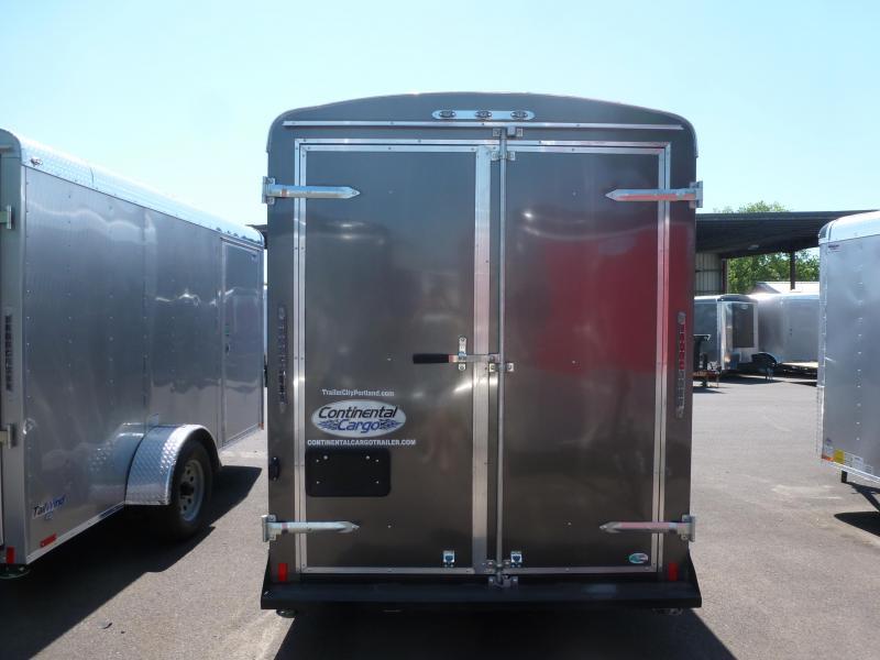 2020 Continental Cargo 6 X 12 3K TALL CARGO CHARCOAL Enclosed Cargo Trailer