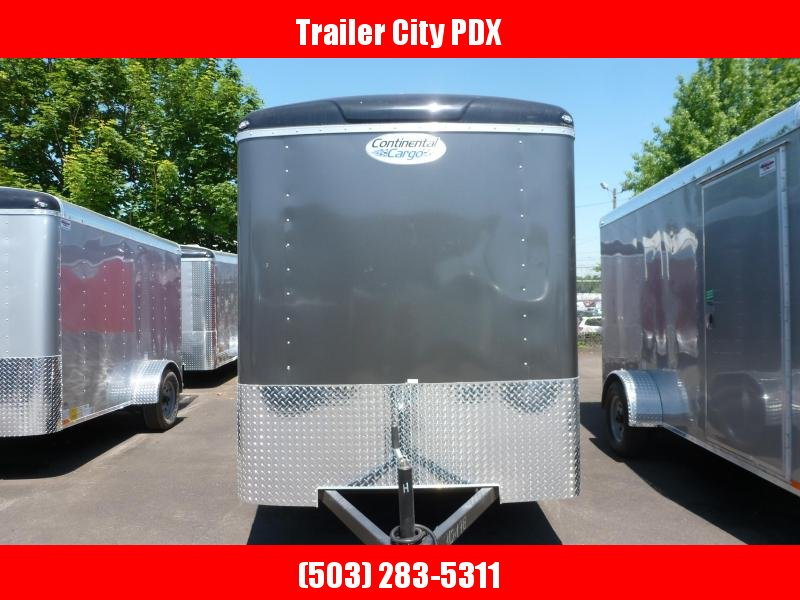 2020 Continental Cargo 6 X 12 3K TALL CARGO CHARCOAL Enclosed Cargo Trailer