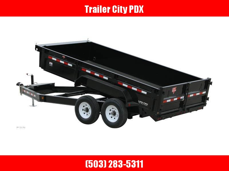 2020 PJ Trailers 7x12 Low Pro Dump (DL) Trailer w/ 10k Jack, Tarp, Ramps