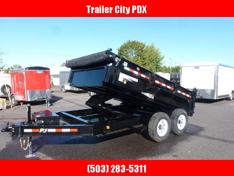 2020 PJ Trailers 7x12 Low Pro Dump  Trailer w/ 10k Jack Tarp Ramps