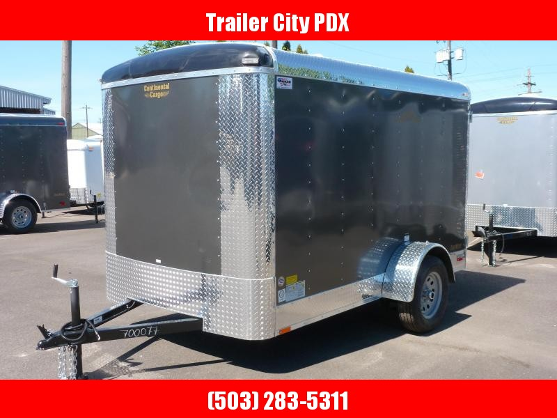 2020 Continental Cargo 6 X 10 3K CARGO CHARCOAL Enclosed Cargo Trailer