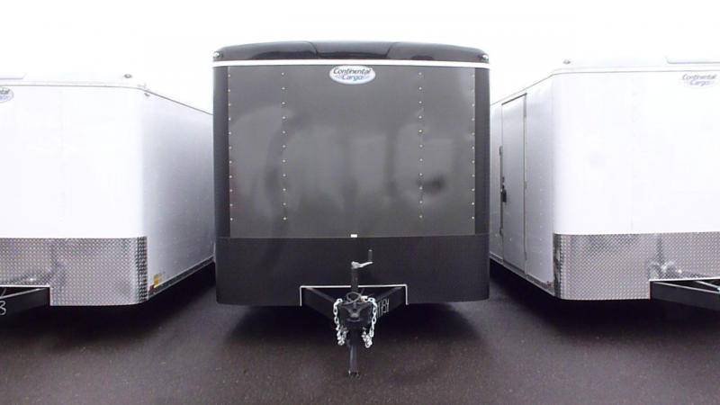 Continental Cargo 8 X 24 10K 2 TONE TALL RAMP CHARCOAL. BLACK TRIM Enclosed  Trailer
