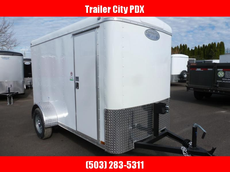 2020 Continental Cargo 5 X 10 3K SUPER TALL RAMP WHITE Enclosed Cargo Trailer