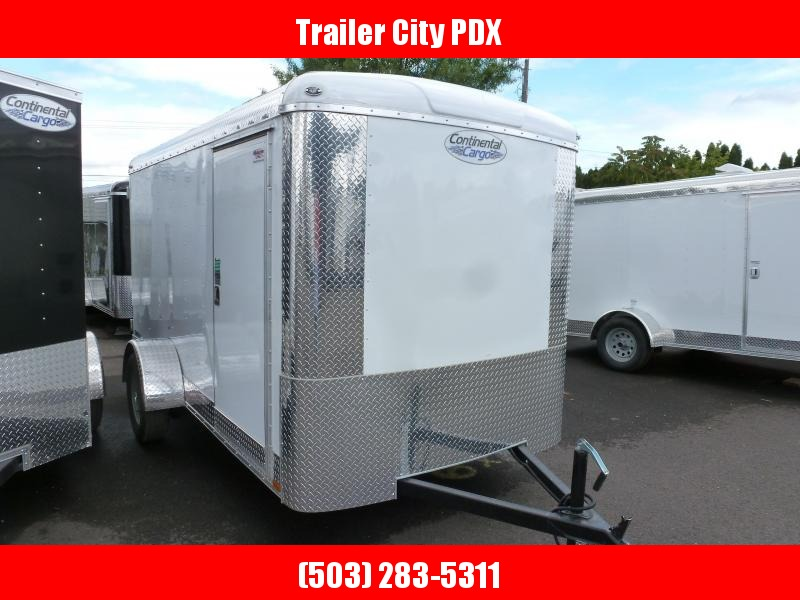 2020 Continental Cargo 6 X 12 3K CARGO WHITE Enclosed Cargo Trailer