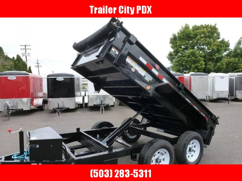 PJ Trailers 5X10 7K DUMP WITH TARP
