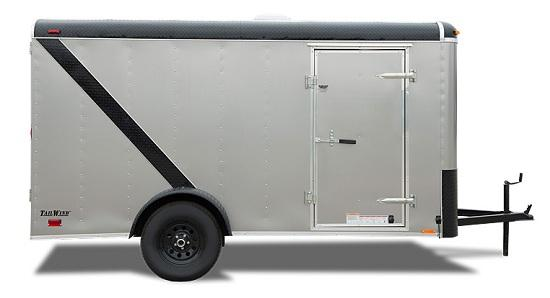 2020 Continental Cargo 6 X 12 3K RAMP TALL RED Enclosed Cargo Trailer
