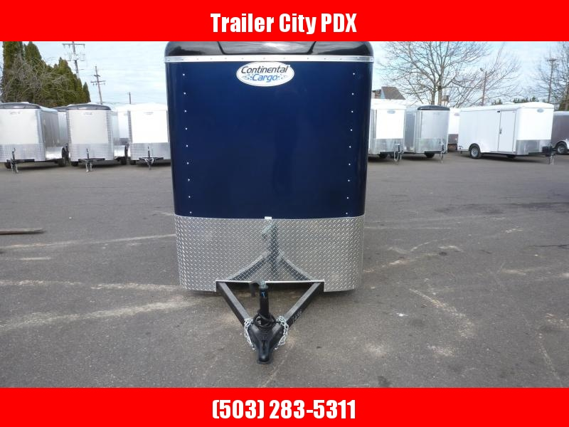 2020 Continental Cargo 5 X 10 3K RAMP DOOR INDIGO BLUE Enclosed Cargo Trailer