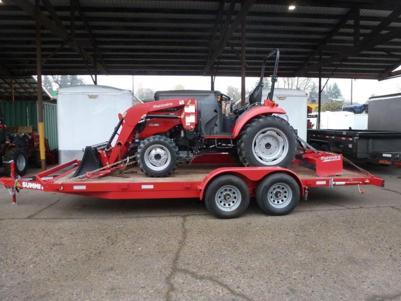 Summit 7X16 TA 10K FLATBED MAHINDRA RED W/RAMPS - SOLD - MORE COMING
