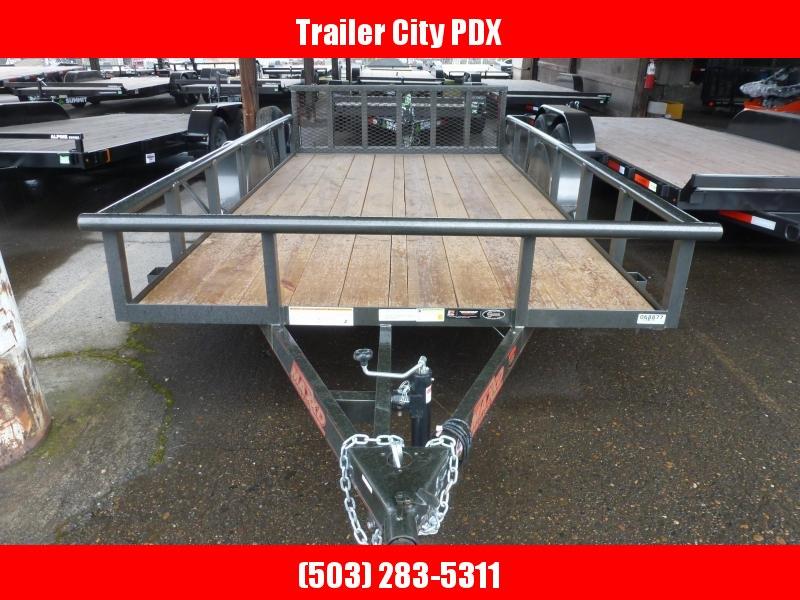 "2020 MAXXD S3X -12' X 77"" Angle Single Axle Utility Trailer Utility Trailer"