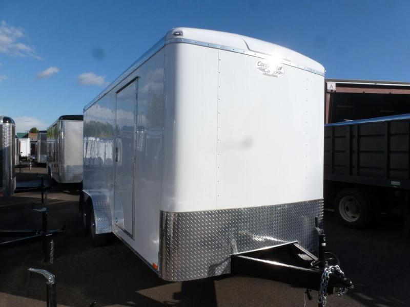 Continental Cargo 7X16 7K RAMP TALL WHITE Enclosed Cargo Trailer