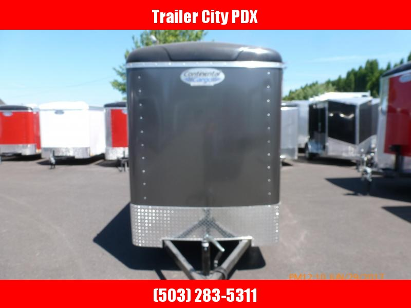 2020 Continental Cargo 5 X 10 3K CARGO DOORS. SUPER TALL CHARCOAL Enclosed Cargo Trailer