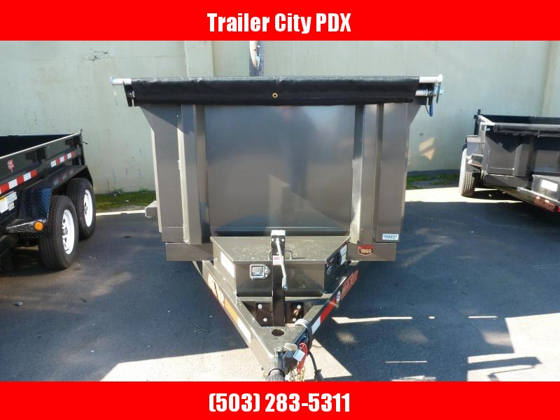 2020 MAXXD 5 X 10 10KScissor Lift Dump Trailer 3' SOLID SIDE Dump Trailer