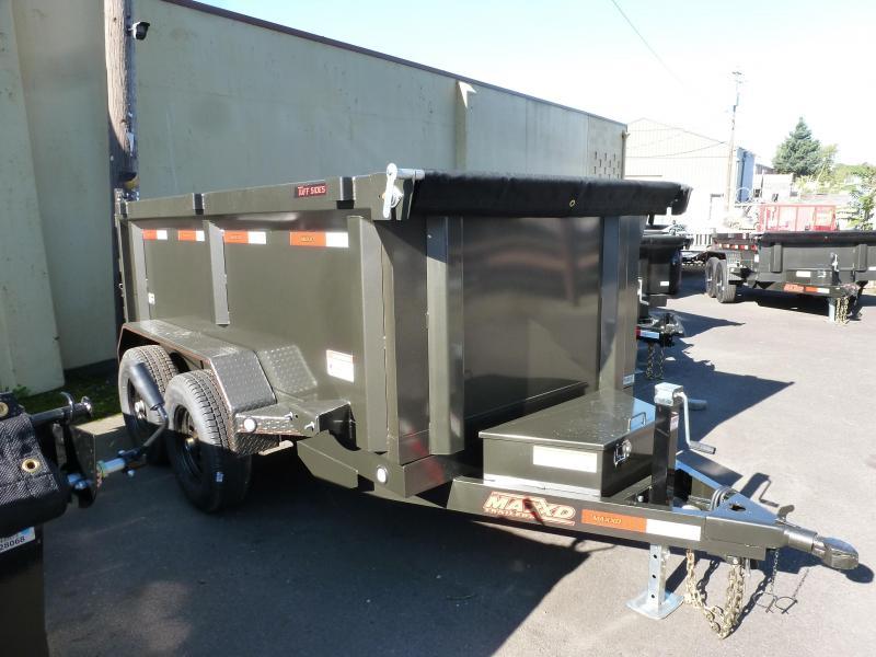 2020 MAXXD 5 X 10 10KScissor Lift Dump Trailer 3' SOLID SIDE Dump Trailer