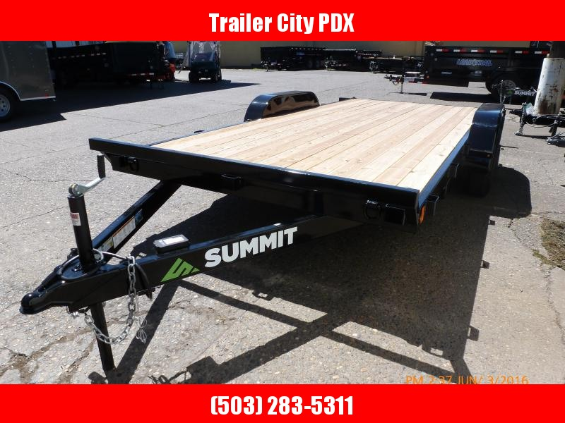 2020 Summit 7x16 7k Flatbed w/Ramps