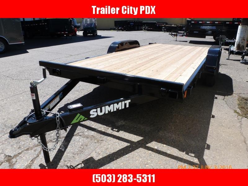 2020 Summit 7x16 7k Flatbed w/Ramps