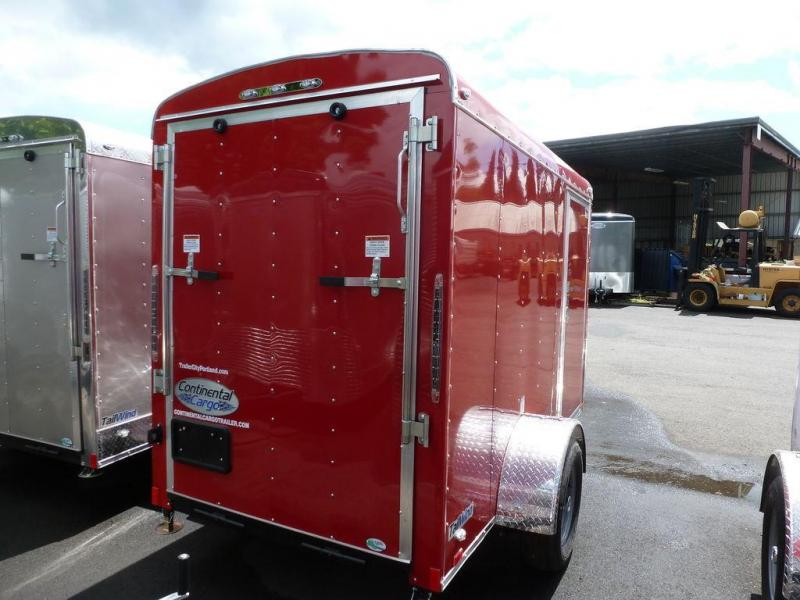 Continental Cargo 5X10 3K RAMP SUPER TALL RED