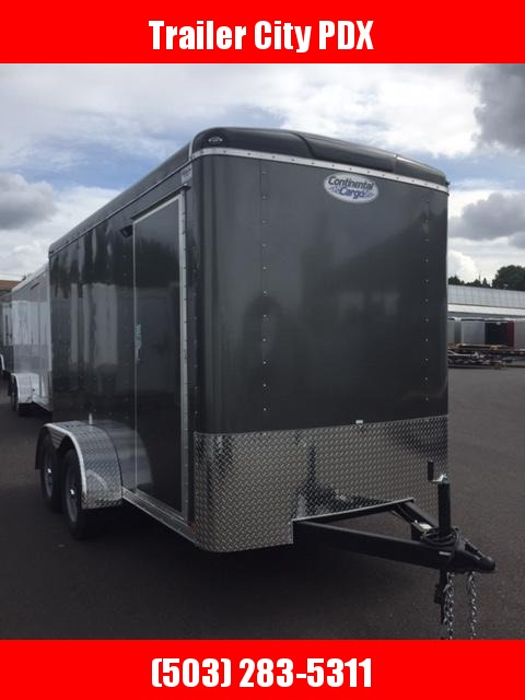 Continental Cargo 6 X 12 7K TALL RAMP CHARCOAL Enclosed