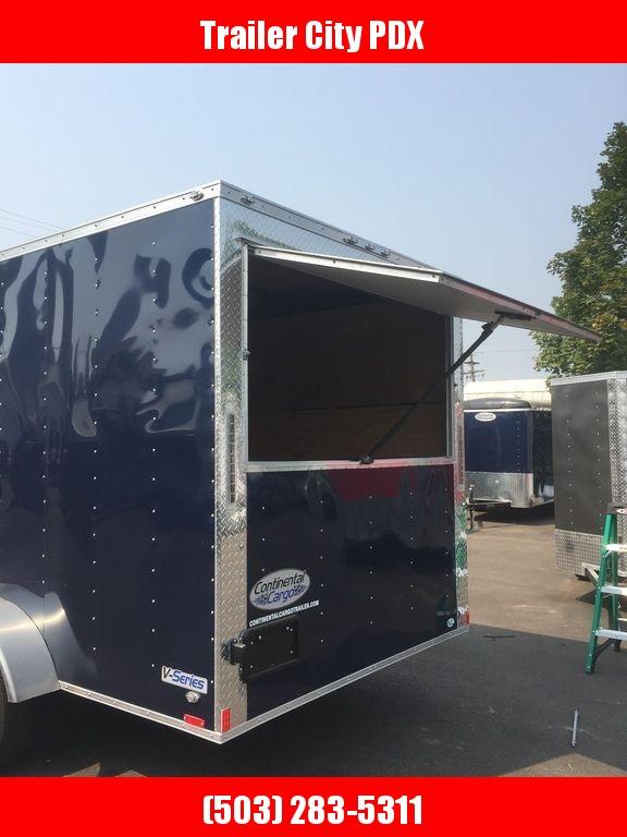 Continental Cargo 7X14 7K CONCESSION DOOR INDIGO BLUE