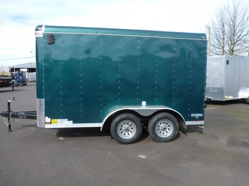 2020 Continental Cargo 7 X 12 7K RAMP FOREST GREEN Enclosed Cargo Trailer