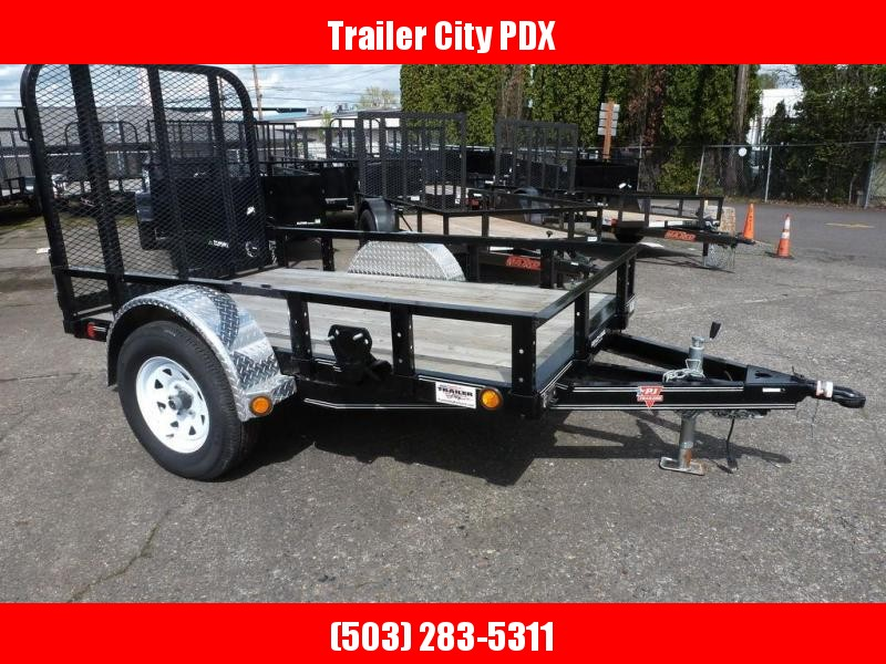 """PJ Trailers 60"""" Single Axle Channel Utility (U6) 8'"""