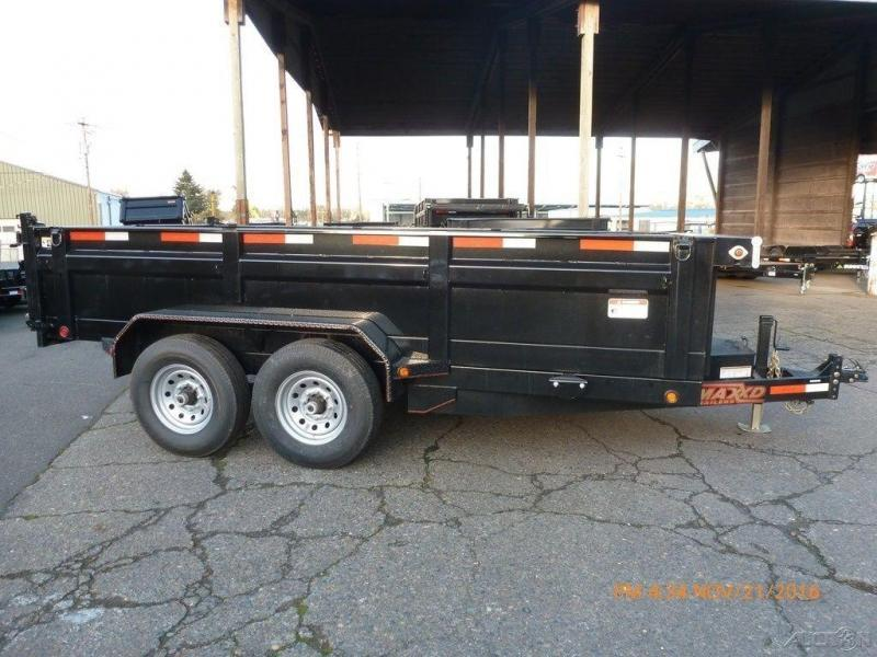 Maxey 83X14 14K Dump w/Tarp, 10K Jack, Rear Support Stands