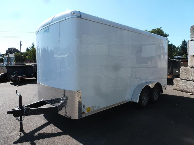 Continental Cargo 7X16 7K TALL WHITE RAMP
