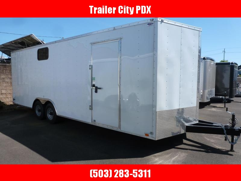 2020 Continental Cargo 8.5 X 24 10K V SERIES WHITE TALL RAMP CAR HAULER Enclosed Cargo Trailer