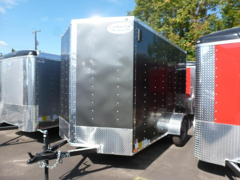 2020 Continental Cargo 6 X 10 3K V-SERIES CHARCOAL Enclosed Cargo Trailer