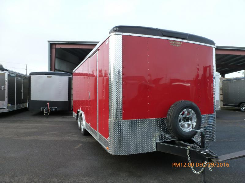 2020 Continental Cargo 8 x 20 10k TALL CAR HAULER Enclosed Cargo Trailer