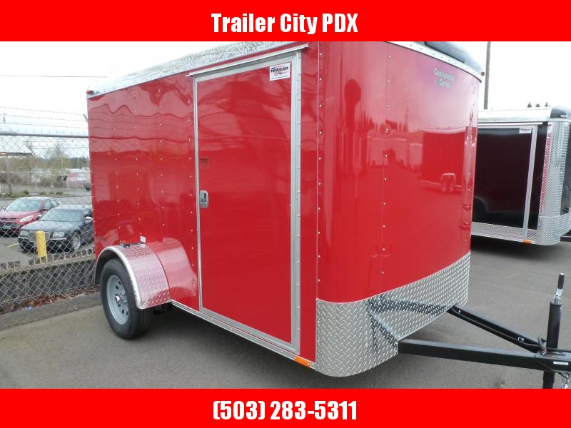 2020 Continental Cargo 6X10 3K RAMP RED Enclosed Cargo Trailer