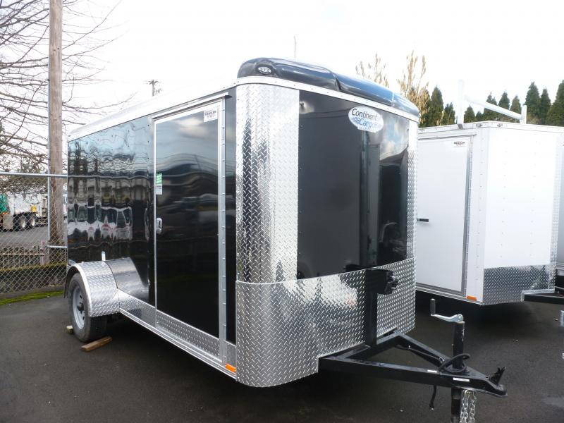 2020 Continental Cargo 6 X 12 3K RAMP BLACK TALL Enclosed Cargo Trailer