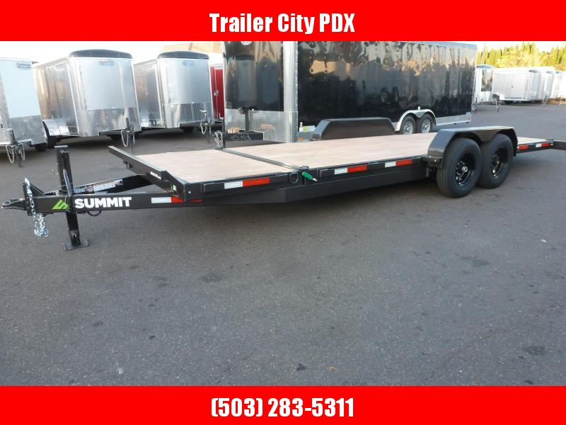 2020 Summit DPSTB722TA5 Flatbed Trailer