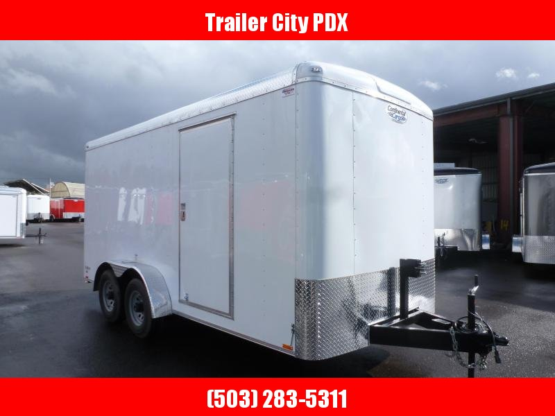 2020 Continental Cargo 7 x 16 7K RAMP TALL WHITE Enclosed Cargo Trailer
