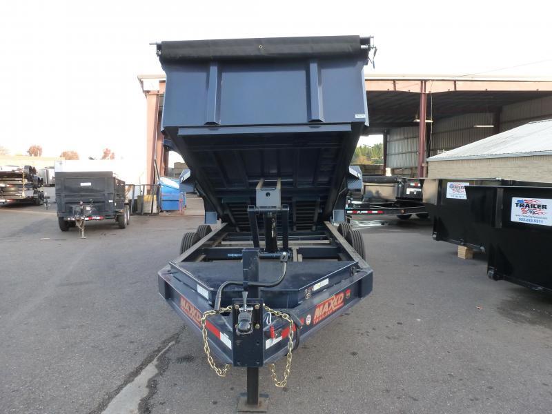 MAXXD 14 x 83 16k I-Beam Dump Trailer 3' Sides, Indigo Blue